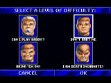 Wolfenstein 3D 3DO Skill select