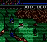 Head Buster Game Gear When aiming your weapon, only squares within range are light.