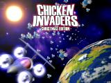 Chicken Invaders: The Next Wave - Christmas Edition Windows Title screen.