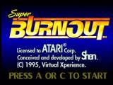 Super Burnout Jaguar Title Screen