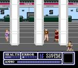 Freedom Force NES Level 3, Airport Terminal. Why is there a girl in a swimsuit at an airport waving at somebody shooting at people?