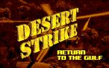 Desert Strike: Return to the Gulf Amiga Title Screen