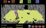 Dragonskulle Commodore 64 Oh no, I shouldn't have dug up the grave! A ghost emerges, and I take damage.