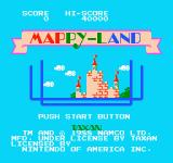 Mappy-Land NES Title screen