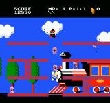 Mappy-Land NES When you're bouncing on the trampolines you are invincible.