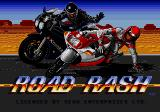 Road Rash Genesis Title Screen