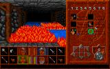 Abandoned Places 2 Amiga Not only fire, but also water is deadly in this game. A levitation spell might help us cross this dangerous room.