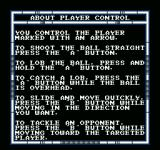 Speedball NES Getting informed on how to play the game.