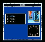 Speedball NES Choose between 1 to 3 minutes for each half.