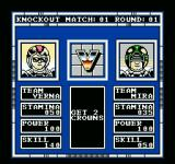 Speedball NES Match-up screen before the game begins.