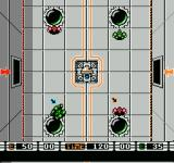 Speedball NES The ball is about to be shot out of the center.