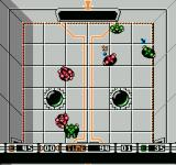 Speedball NES Attempting to score a goal.