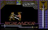 Highlander Commodore 64 MacLeod is training his fencing skills with his friend Ramirez.