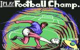 I Play: Football Champ. Commodore 64 Title Screen