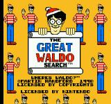 The Great Waldo Search NES Title screen