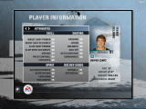 NHL 08 Windows Player information screen