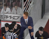 NHL 08 Windows Coach talking to the referee.