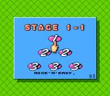 Stunt Kids NES Stage select -- more options are available at higher stages.
