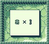 Boulder Dash Game Boy You start with three lives.