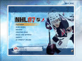 NHL 07 Windows Main menu