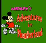 Mickey's Adventures in Numberland NES Title Screen