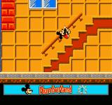 Mickey's Adventures in Numberland NES It appears Mickey is falling down a flight of stairs... worry not though, that's just how he climbs up the stairs in the game