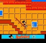 Mickey's Adventures in Numberland NES Sliding down the stair railing