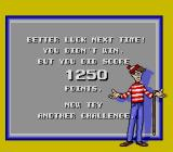 The Great Waldo Search SNES If you don't find Waldo and the scroll before time runs out, you get this screen.