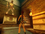 Tomb Raider: Chronicles Windows Wow! Shiny golden statue... I'm sure it's going to attack me.