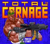 Total Carnage SNES Title screen