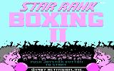 Star Rank Boxing II DOS Title screen (CGA)