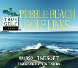 True Golf Classics: Pebble Beach Golf Links SNES Title screen (USA release)