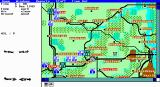 Fire-Brigade: The Battle for Kiev - 1943 DOS The main game screen (EGA)