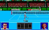 I Play: 3D Tennis DOS You are ready to serve the ball (VGA).