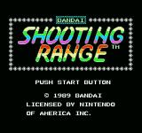 Shooting Range NES Title screen