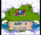 The Smurfs SNES Act 1: The village.