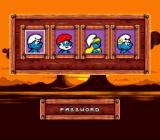 The Smurfs Travel the World SNES The password uses pictures of Smurfs.