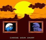 The Smurfs Travel the World SNES Choose to play as a Smurf or Smurfette.