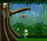 The Smurfs Travel the World SNES Here is a crystal shard I need plus an enemy.