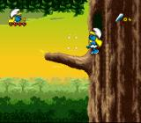 The Smurfs Travel the World SNES These sparkles teleport you.