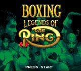 Boxing Legends of the Ring Genesis Title Screen