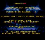 Boxing Legends of the Ring Genesis Options Menu