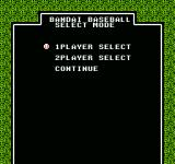Legends of the Diamond NES Choose # of players or continue.