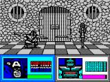 The Amazing Spider-Man and Captain America in Dr. Doom's Revenge! ZX Spectrum Captain America can destroy easily this one using only shield. :D