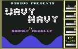 Wavy Navy Commodore 64 Title screen