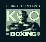 George Foreman's KO Boxing Game Boy Title screen