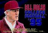 Bill Walsh College Football 95 Genesis Title screen