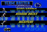 Bill Walsh College Football 95 Genesis Roster screen