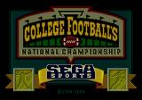 College Football's National Championship Genesis Title screen