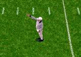 College Football's National Championship Genesis The referee makes a decision.